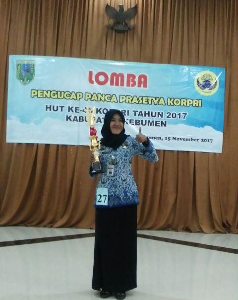 Anggun Kirana Putri Sabet Juara 1 Lomba Pengucap Panca Prasetya Korpri Tingkat Kabupaten Kebumen